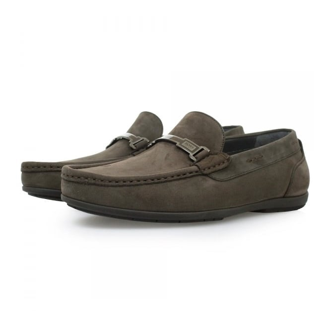 BOSS Hugo Boss Hugo Boss Flanac Dark Brown Moccasins Shoes 50298114