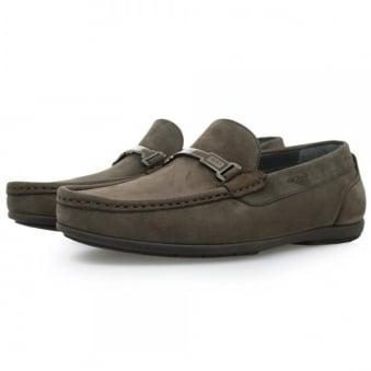 Hugo Boss Flanac Dark Brown Moccasins Shoes 50298114