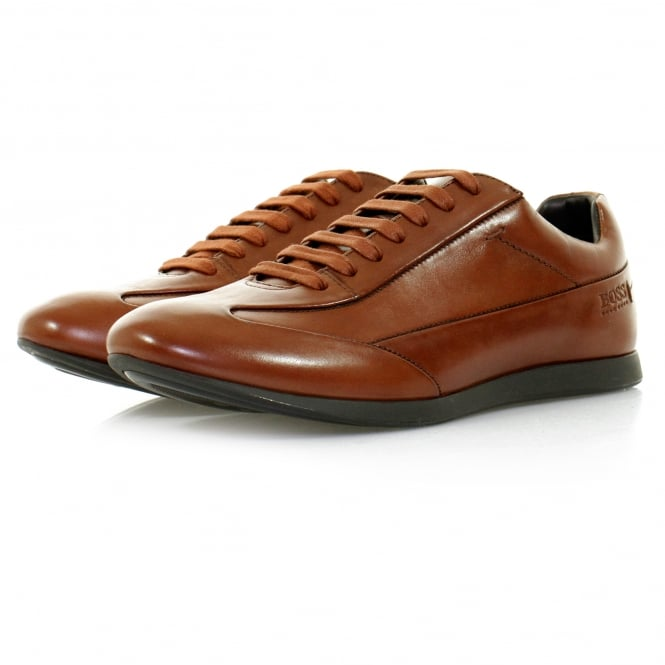 BOSS Hugo Boss Hugo Boss Fult Medium Brown Leather Shoe 50298112