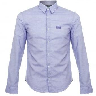 Hugo Boss Green C-Buster Open Blue Shirt 50320135