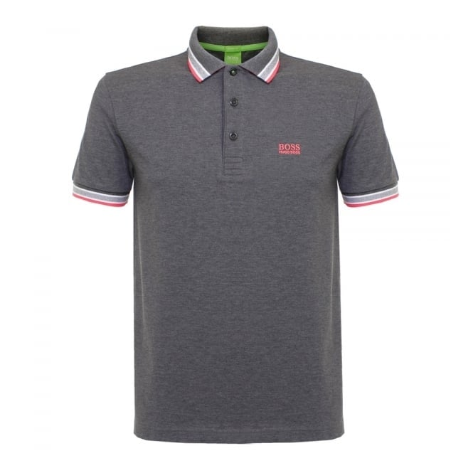 Boss Green Hugo Boss Green Paddy Medium Grey Polo Shirt 50302557