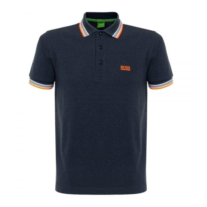 Boss Green Hugo Boss Green Paddy Open Blue Polo Shirt 50302557