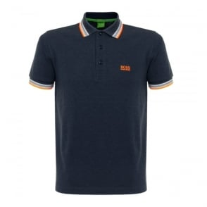 Hugo Boss Green Paddy Open Blue Polo Shirt 50302557