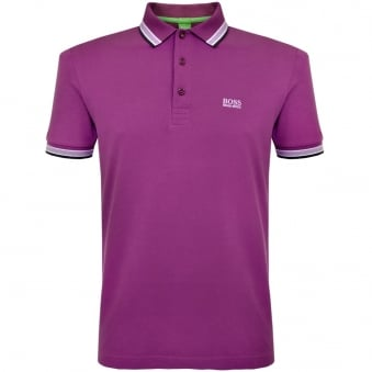 Hugo Boss Green Paddy Purple Polo Shirt 50302557