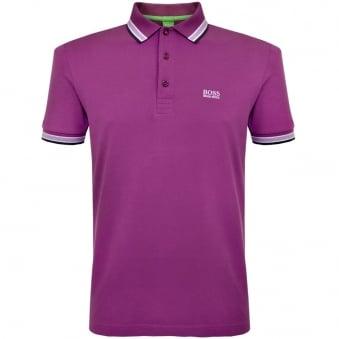 Hugo Boss Green Paddy Purple Polo Shirt 50302557