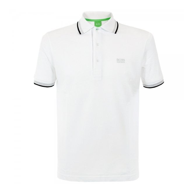 Hugo Boss Green Paddy White Polo Shirt 50198254