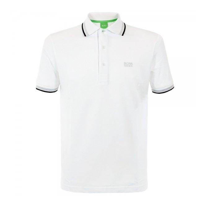 Boss Green Hugo Boss Green Paddy White Polo Shirt 50198254