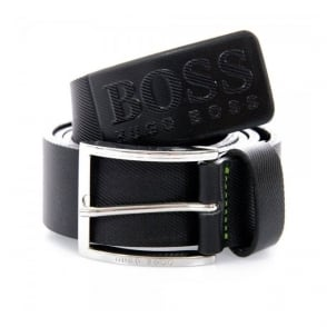Hugo Boss Green Ticenzo Black Leather Belt 50227524