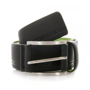 Hugo Boss Green Tymo Cowhide Black Belt 50280785