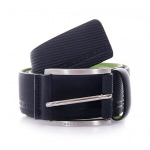 Hugo Boss Green Tymo Cowhide Navy Belt 50280785