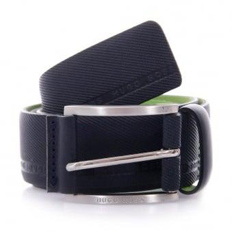 Hugo Boss Green Tymo Cowhide Navy Belt 50280785