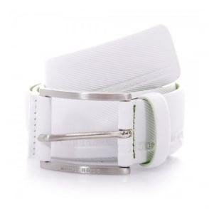 Hugo Boss Green Tymo Cowhide White Belt 50280785