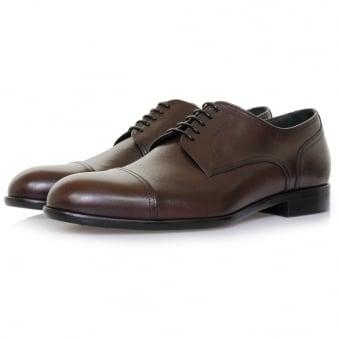 Hugo Boss Manhattan Derby Leather Dark Red Shoe 50321647