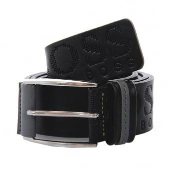 Hugo Boss Millow Black Leather Belt 50202917