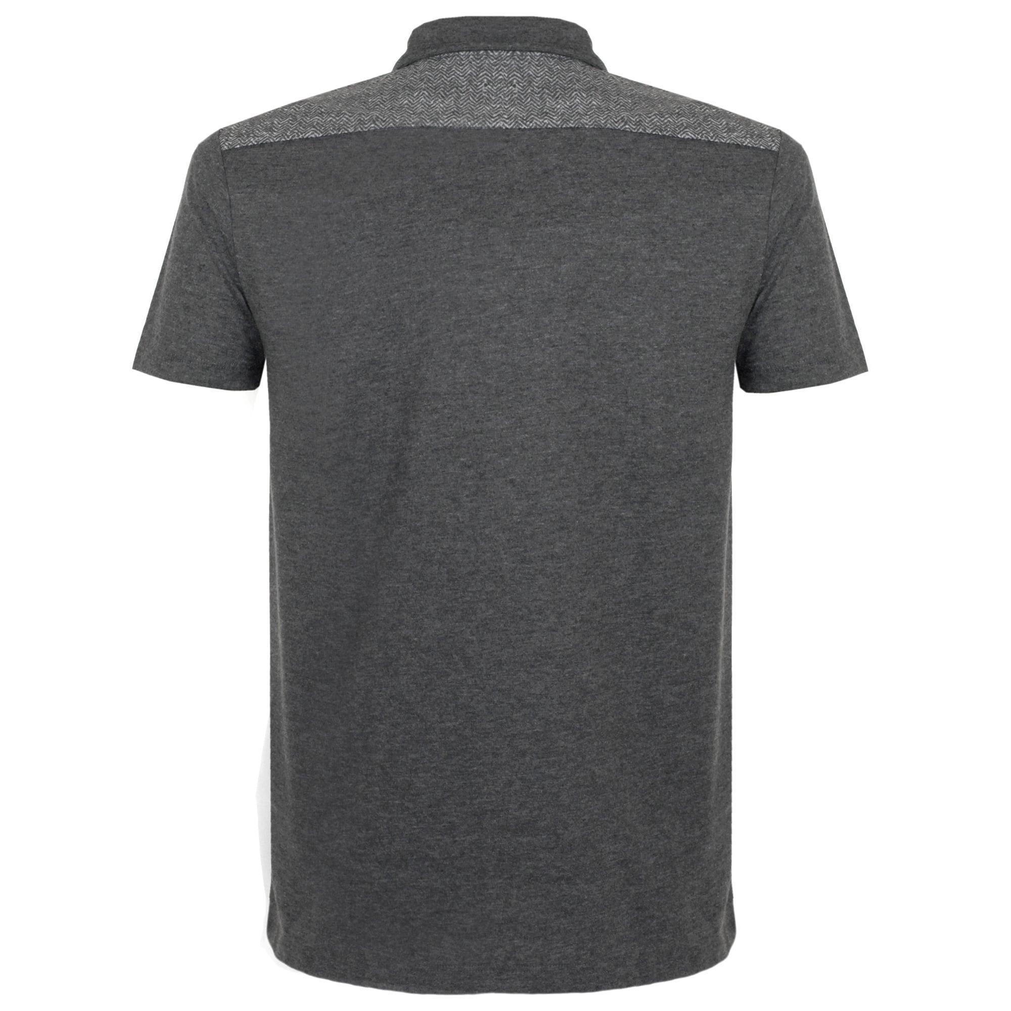 aa9579749c BOSS Orange Hugo Boss Orange Pauleo Grey Herringbone Polo Shirt 50302944