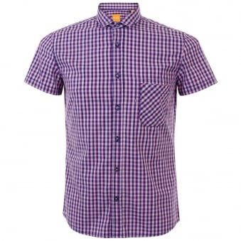 Hugo Boss Orange Ezippoe 1 Bright Purple Shirt 50282693