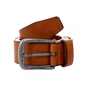 Hugo Boss Orange Jolliy Med Brown Leather Belt 50273310