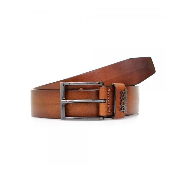 BOSS Hugo Boss Hugo Boss Senol Medium Brown Leather Belt 50281069