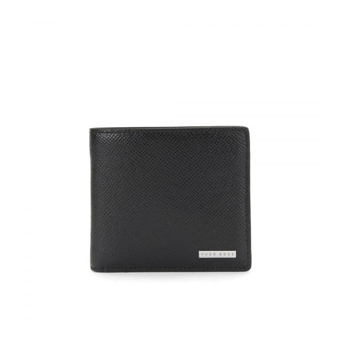 BOSS Hugo Boss Hugo Boss Signature_8 CC Black Leather Wallet 50811737