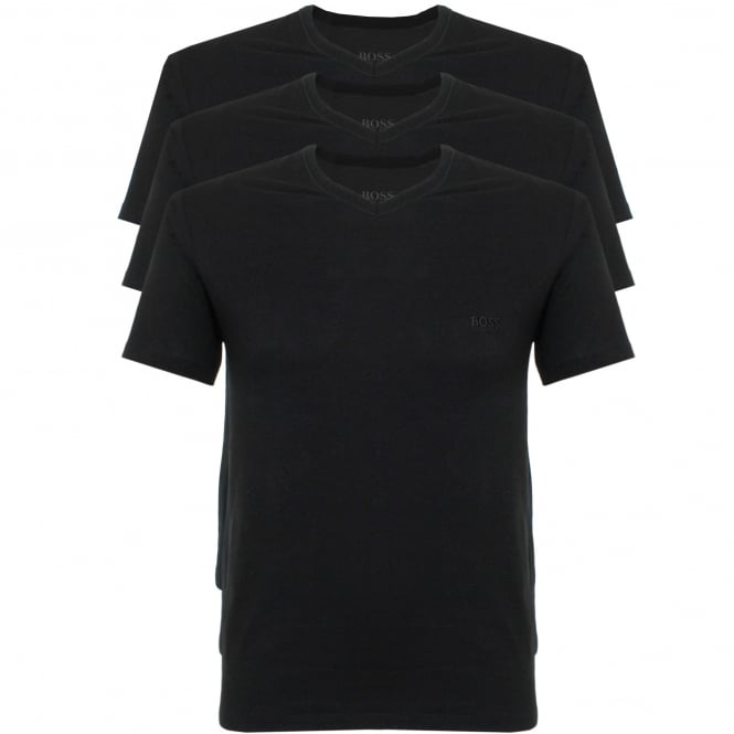 BOSS Hugo Boss Hugo Boss Triple Pack V-neck Black T-Shirt 50325389