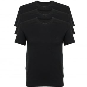 Hugo Boss Triple Pack V-neck Black T-Shirt 50325389
