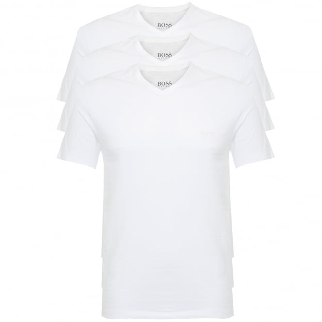 BOSS Hugo Boss Hugo Boss Triple Pack V-neck White T-Shirt 50325389