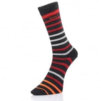 Hugo Boss Two Pack Soft Cotton Charcoal Socks 50308097