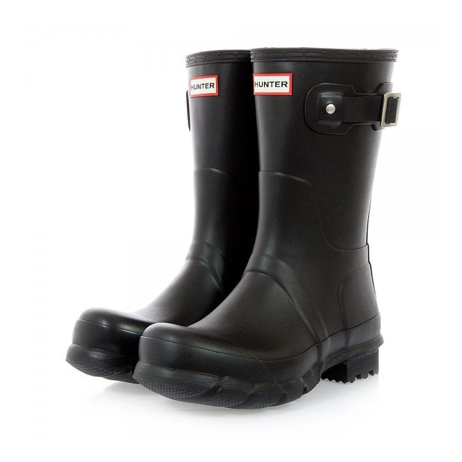 Hunter Hunter Original Short Black Wellington  Boot MFS9000RMA