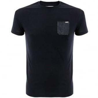 Iceberg Pocket Navy T-Shirt 4017-6689