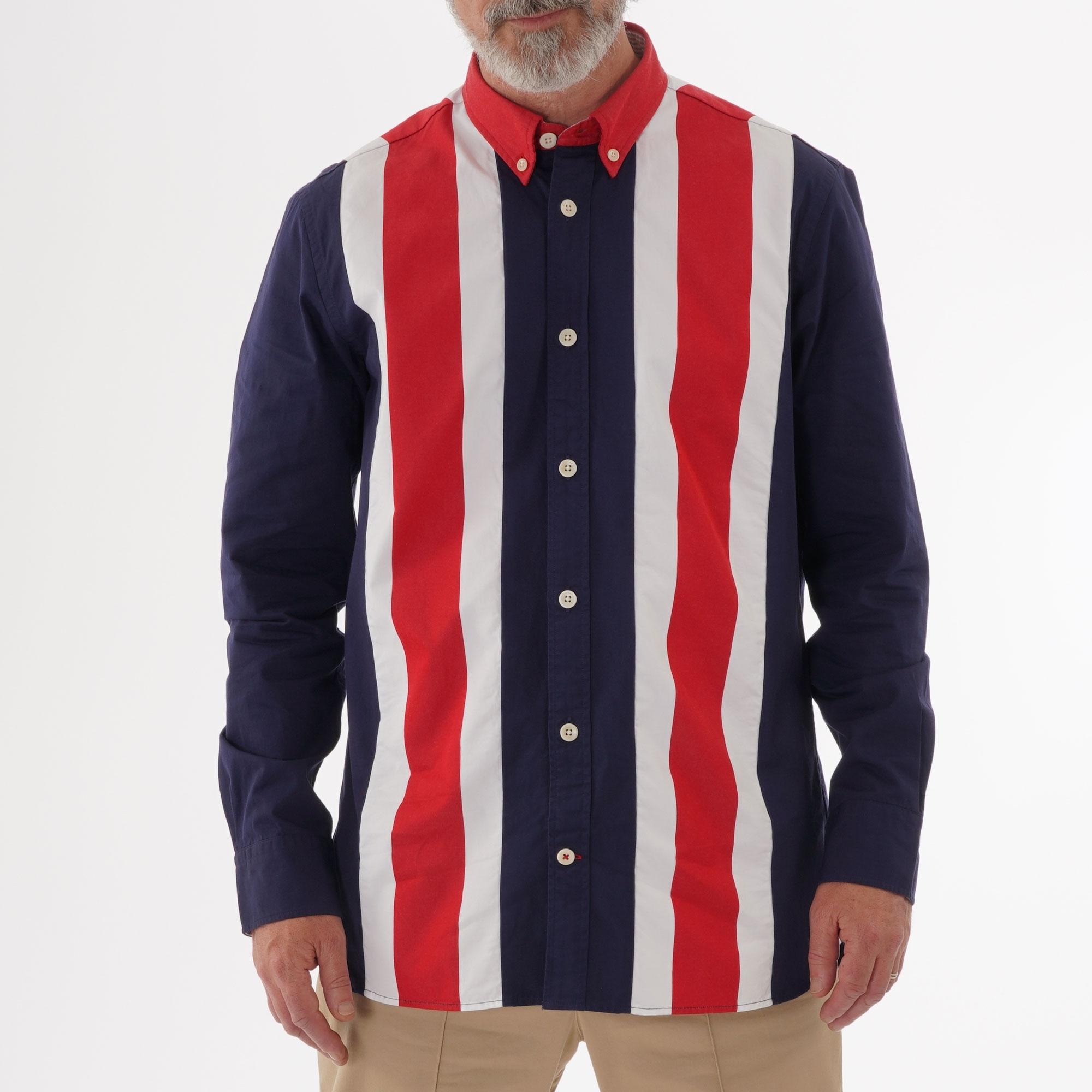 05404b9e Tommy Hilfiger Icon Panelled Shirt   Peacoat   US Stockists