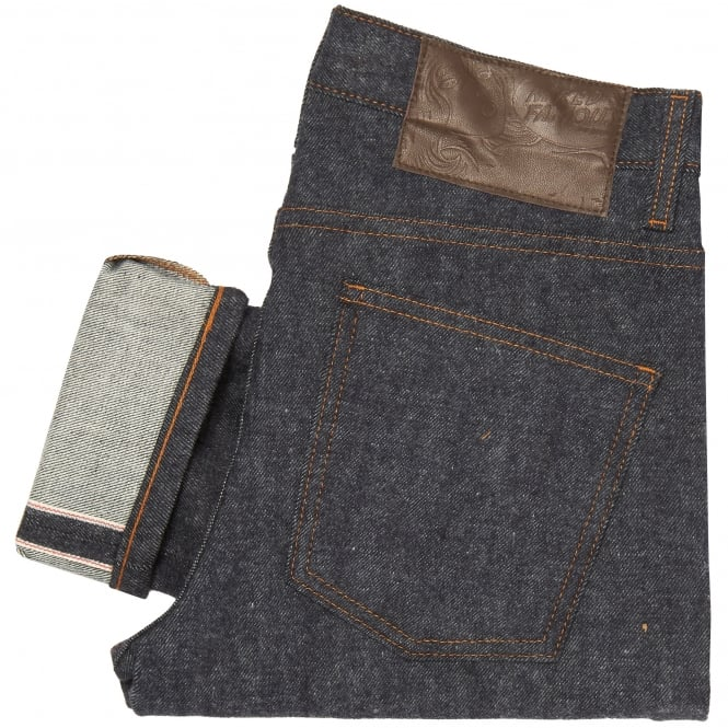 Naked and Famous Denim Indigo Super Skinny Guy Brushed Stretch Selvedge Jeans