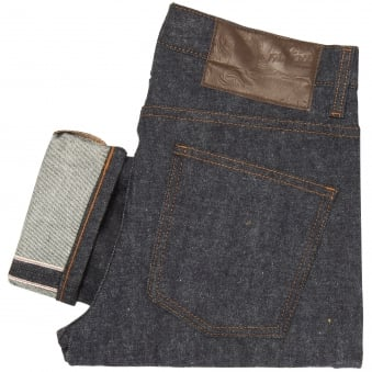 Indigo Super Skinny Guy Brushed Stretch Selvedge Jeans