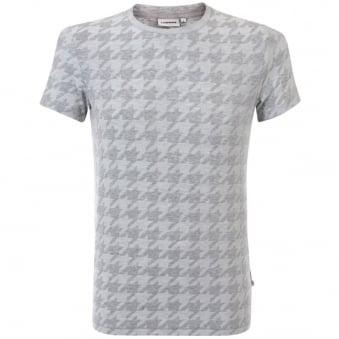 J Lindeberg Drape Jacquard Light Grey T-Shirt 53MC56047
