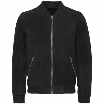 Black Double Texture Suede Russel Jacket