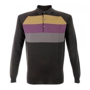 John Smedley Town Striped Wool Polo Shirt N38