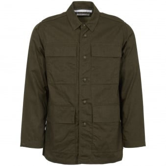 Khaki Oxford Military Shirt Jacket