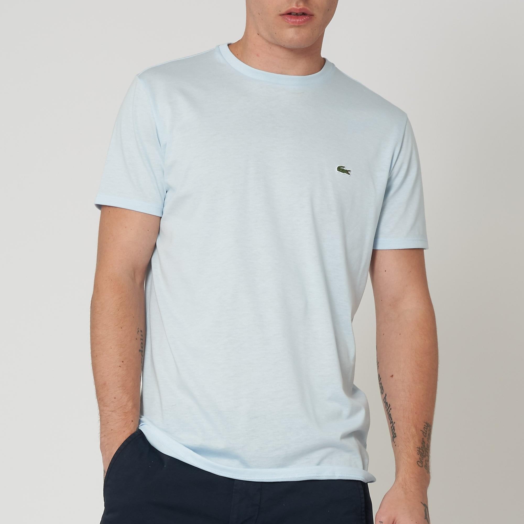 e124536fe52ba Lacoste Baby Blue Crew Neck Pima Cotton T-Shirt TH6709