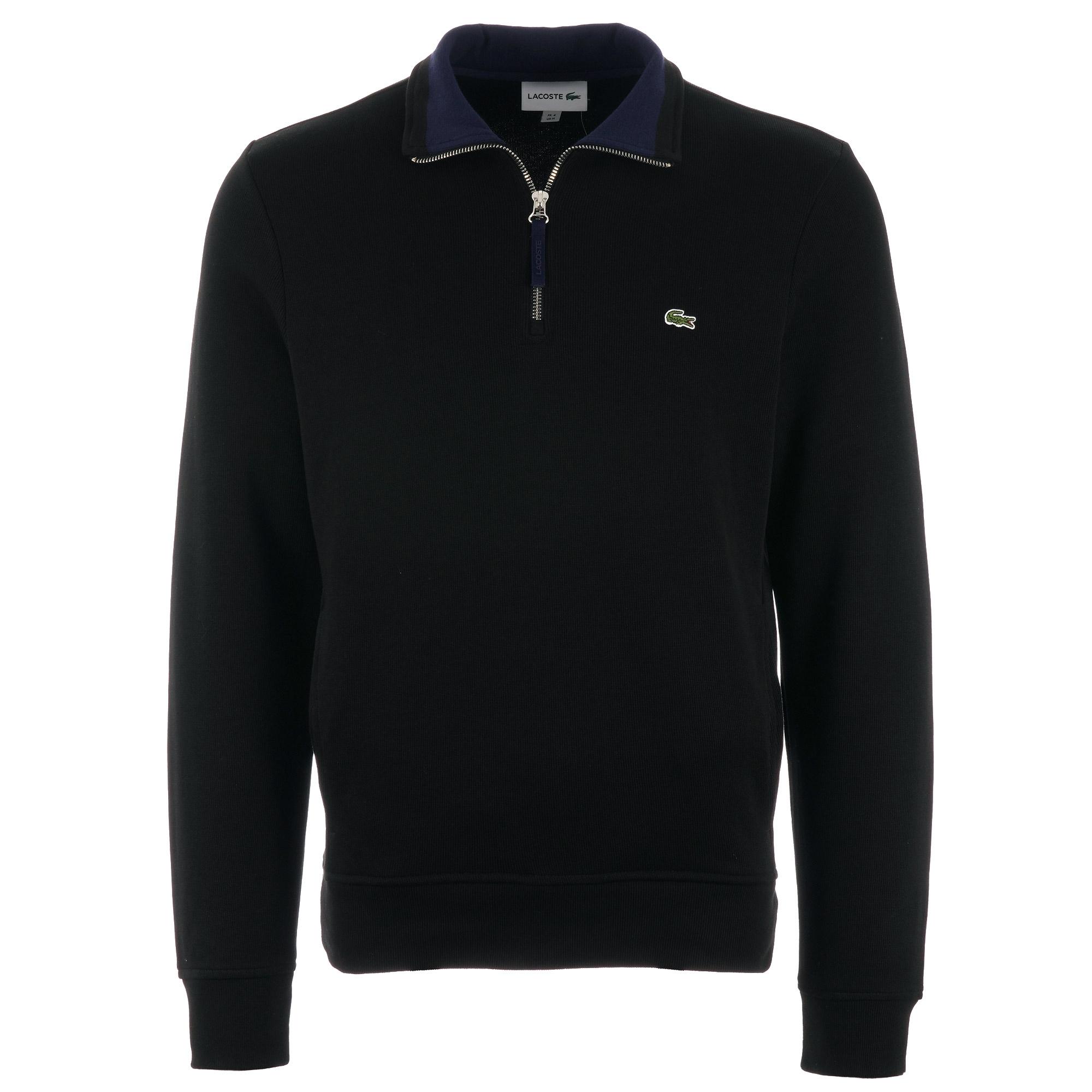 lacoste jumper black