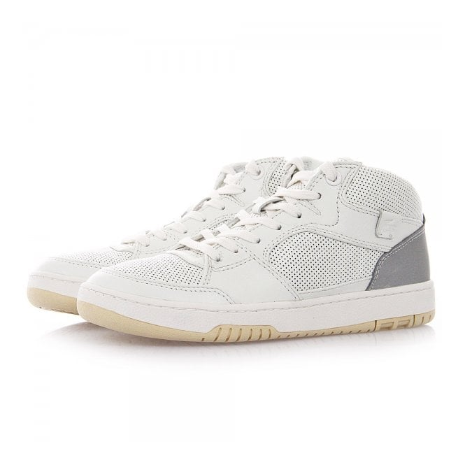 Lacoste Footwear Lacoste Live Wytham Perforated White Leather Sneaker Boot 7-29LEM2010001