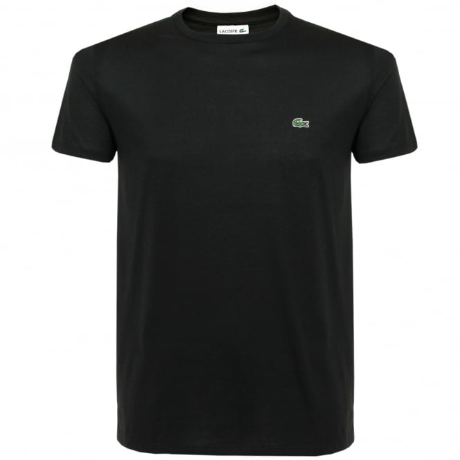 Lacoste Pima Cotton Black T-Shirt TH670900031