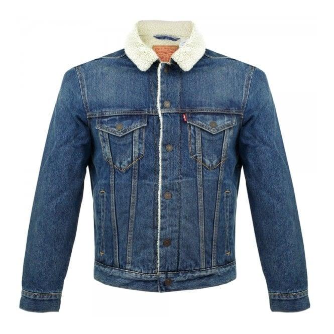 c5dc634f387 Levi's Men's Jackets | Type 3 Borg Trucker Denim Jacket