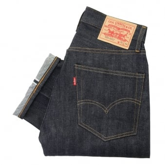 Levi's Vintage 505 Pre- Shrunk Dark Wash Selvage Denim Jeans 67505-0098