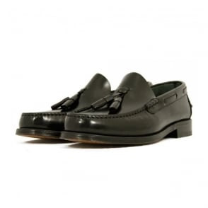 Loake Georgetown Tassel Loafer Moccasin Black Shoe
