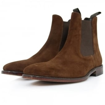 Loake Mitchum Brown Suede Chelsea Boot SIZE 13