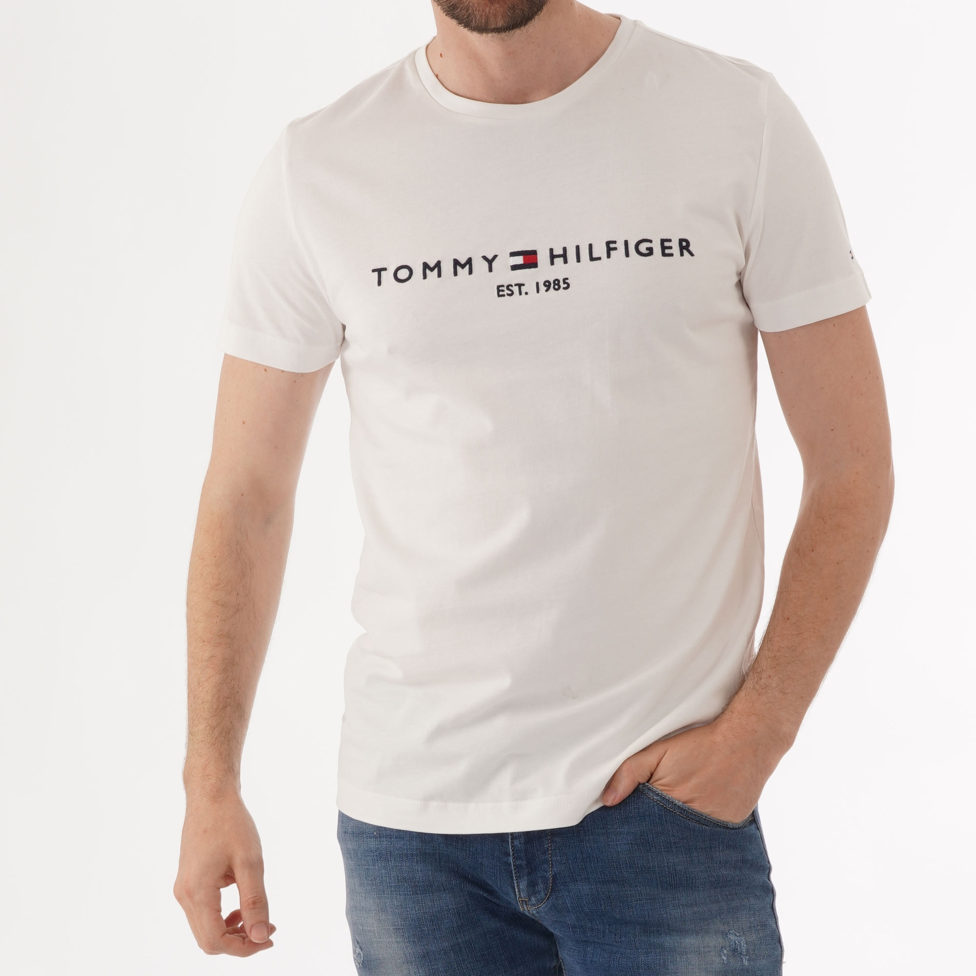 tommy hilfiger white t