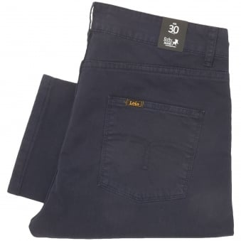 Lois Jeans Arturo Navy Slim Fit Corduroy Trousers 5355
