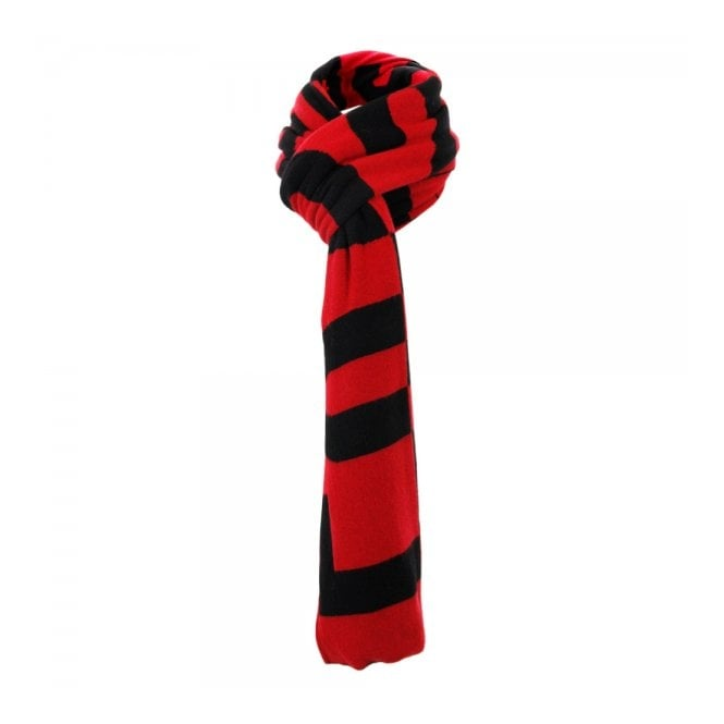 Love Moschino Love Moschino Lettering Knit Wool Red Scarf MSA97