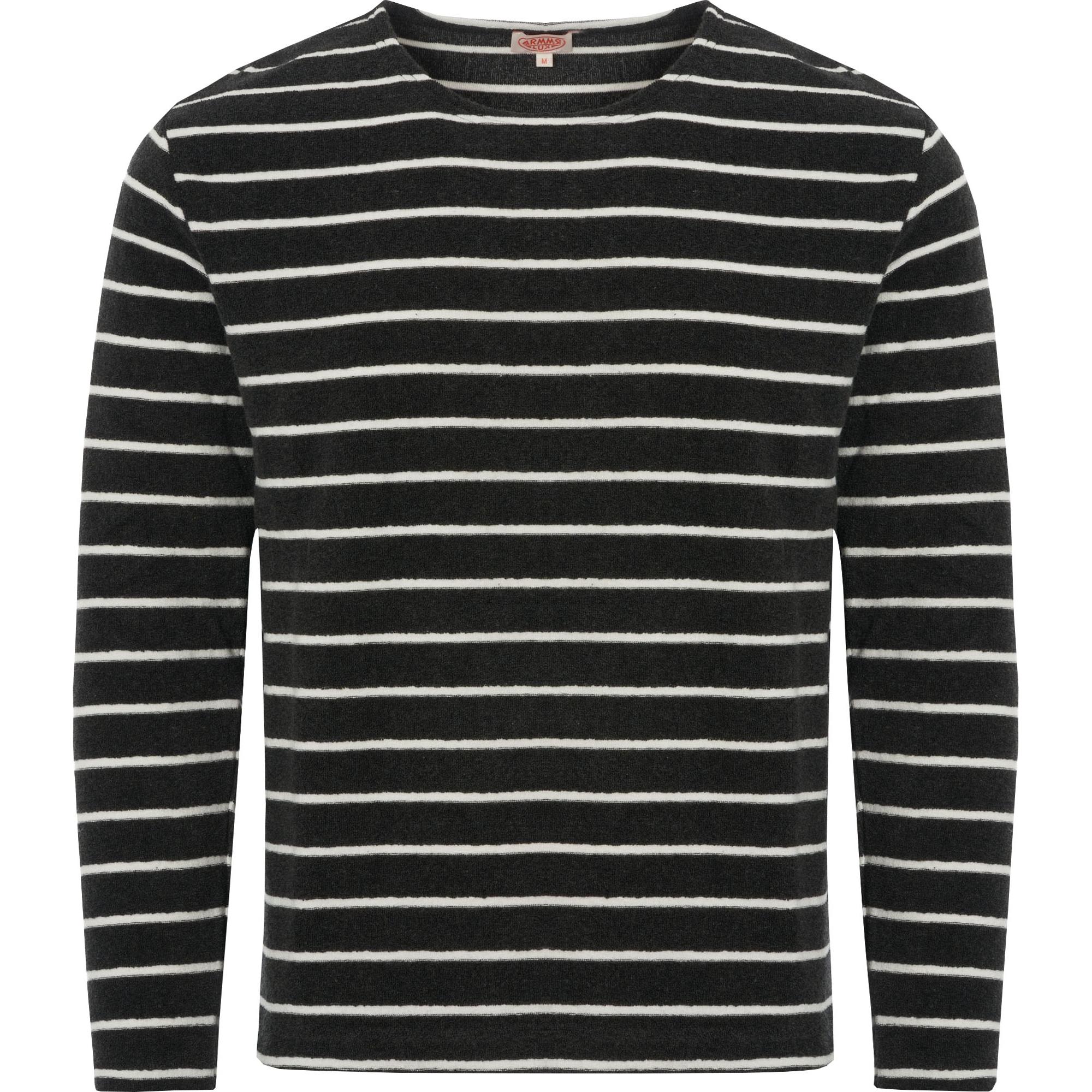 Mariniere Heritage Towelling Sweatshirt Ebony & Milk