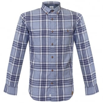 Matinique Allan Utility Blue Check Shirt 30200098