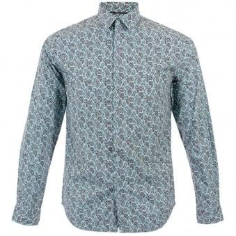 Merc London York Sky Paisley Shirt 1514202